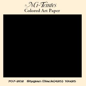 Mi-teintes Canson Negro, 160 gr., 21X30 cm.