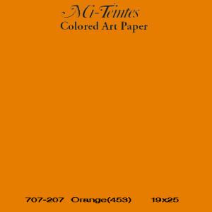 Mi-teintes Canson Naranja, 160 gr., 21X30 cm.