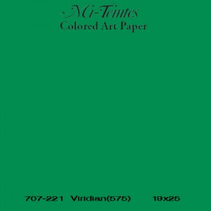 Mi-teintes Canson Verde Billar, 160 gr., 21X30 cm.