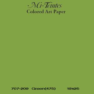 Mi-teintes Canson Verde Manzana, 160 gr., 21X30 cm.