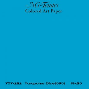 Mi-teintes Canson Azul Turquesa, 160 gr., 50x65 cm.