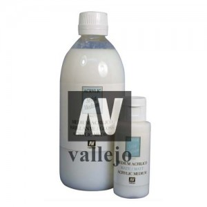 Medium acrilico Veladuras Brillante Vallejo, 500 ml.