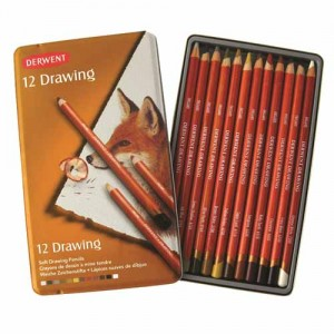 Estuche 12 lapices Drawing Derwent