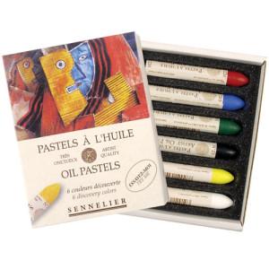 Caja pastel Oleo Sennelier 6 colores, Set Descubrimiento