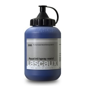 Barniz para agua tinta Lascaux Spray Resist, 85 ml.