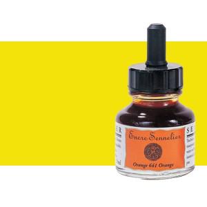 Tinta dibujo Amarillo claro 521, 30 ml. con cuentagotas Sennelier