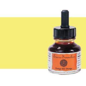 Tinta dibujo Amarillo limón 501, 30 ml. con cuentagotas Sennelier