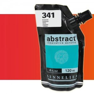 totenart-Acrilico Sennelier Abstract Rojo Fluo 604, 120 ml.