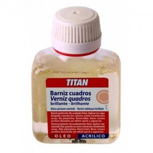 Barniz cuadros brillante Titan, 250 ml.