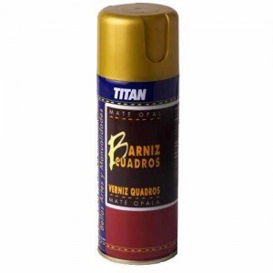 Barniz SPRAY Mate Titan para cuadros, 200 ml.