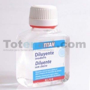 Diluyente Inodoro Titan, 250 ml.