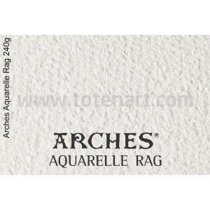 Infinity Arches Aquarelle Rag, 240 gr., A2, caja 25 uds.