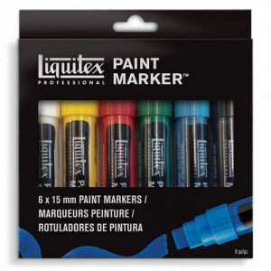 Rotulador Acrilico Liquitex Paint Marker, set 6 uds 18 mm.