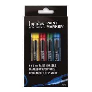 Rotulador Acrilico Liquitex Paint Marker, set 6 uds 2 mm.