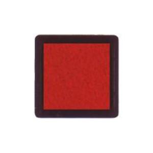 Tinta para sellos rojo, 3x3 cm, Nellie Snellen al agua