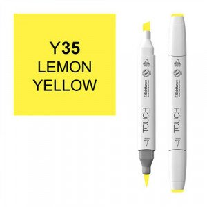 Rotulador alcohol TOUCH TWIN Lemon Yelow n. Y35 totenart.