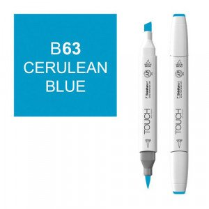 Rotulador alcohol TOUCH TWIN Cerulean Blue n. B63 totenart