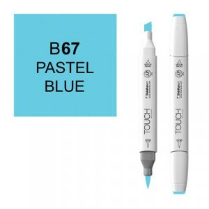 Rotulador alcohol TOUCH TWIN Pastel Blue n. B67 totenart.