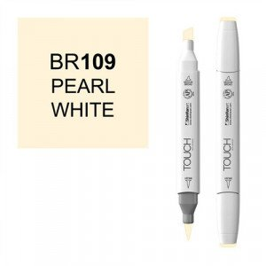 Rotulador alcohol TOUCH TWIN Pearl White  n. BR109 totenart.