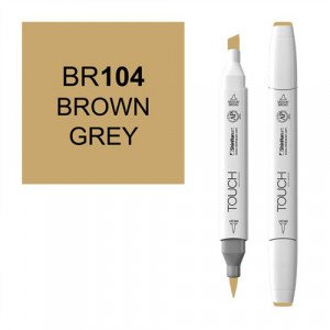 Rotulador alcohol TOUCH TWIN Brown Grey  n. BR104 totenart.