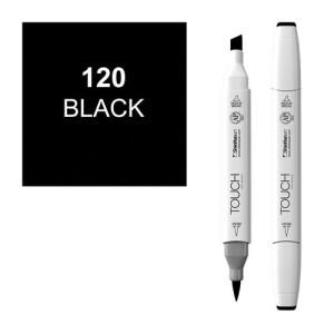 Rotulador alcohol TOUCH TWIN Black  n. 120 totenart.