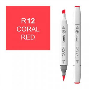 Rotulador alcohol TOUCH TWIN Coral Red, n. R12 totenart.