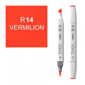 Rotulador alcohol TOUCH TWIN Vermilion, n. R14 totenart.
