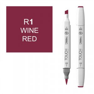 Rotulador alcohol TOUCH TWIN Wine Red, n. R1 totenart.