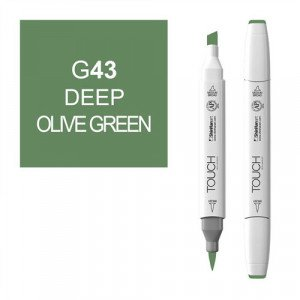 Rotulador alcohol TOUCH TWIN Deep Olive Green n. G43 totenart