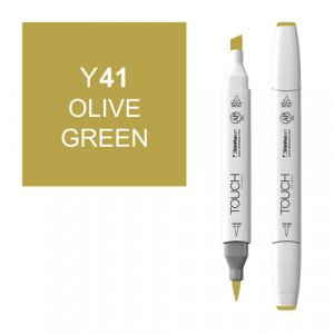Rotulador alcohol TOUCH TWIN Olive Green n.Y41 totenart.