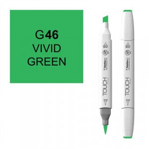 Rotulador alcohol TOUCH TWIN Vivid Green n. G46 totenart.