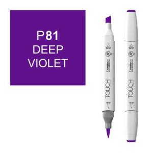 Rotulador alcohol TOUCH TWIN Deep Violet n. P81 totenart