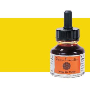 Tinta dibujo Amarillo senegal 519, 30 ml. con cuentagotas Sennelier