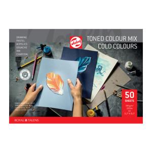 Bloc multitécnica de 50 hojas de papel Colores Fríos de 180 gr (A4)