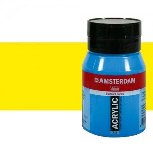 Acrílico Amsterdam color amarillo primario (500 ml)
