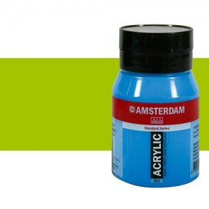 Acrílico Amsterdam color amarillo verdoso (500 ml)
