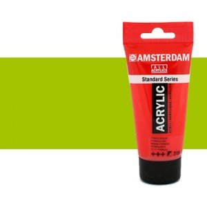 Acrílico Amsterdam color amarillo verdoso (250 ml)