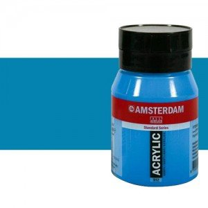 Acrílico Amsterdam color azul brillante (500 ml)