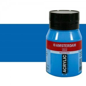 Acrílico Amsterdam color azul ftalocianina (500 ml)