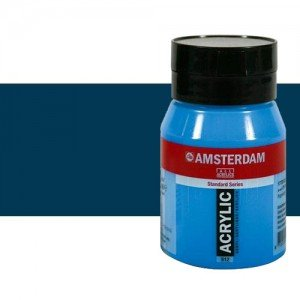 Acrílico Amsterdam n. 566 color azul Prusia ftalocianina (500 ml)