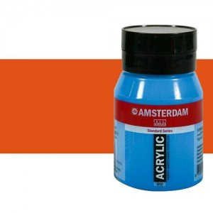 Acrílico Amsterdam color bermellón (500 ml)