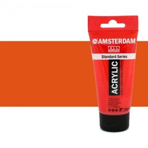 Acrílico Amsterdam color bermellón (250 ml)