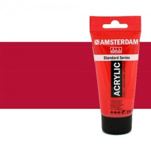 Acrílico Amsterdam color carmín (250 ml)