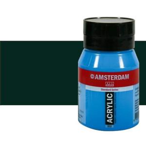 Acrílico Amsterdam color negro óxido (500 ml)
