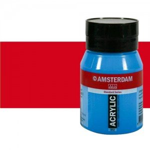 Acrílico Amsterdam n. 396 color rojo naftol medio (500 ml)