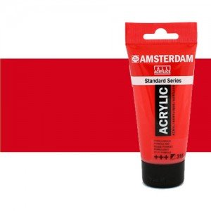 Acrílico Amsterdam color rojo naftol medio (250 ml)