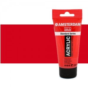 Acrílico Amsterdam color rojo transparente medio (250 ml)