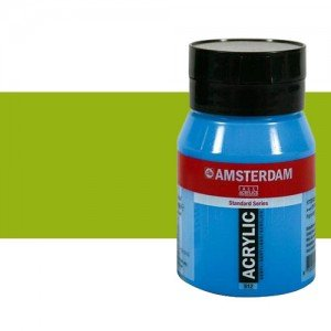 Acrílico Amsterdam color verde amarillo (500 ml)