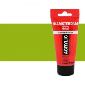 Acrílico Amsterdam n. 617 color verde amarillo (250 ml)