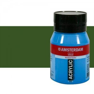 Acrílico Amsterdam color verde oliva oscuro (500 ml)